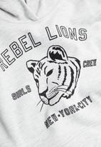 MANGO - Lion dress - pastel grey
