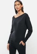 STRONG by T-Shirt Bed Co. - Cold shoulder top - black
