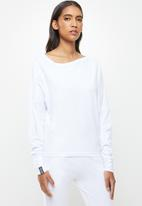 STRONG by T-Shirt Bed Co. - Cold shoulder top - white