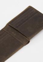 POLO - Hamada credit card billfold - brown