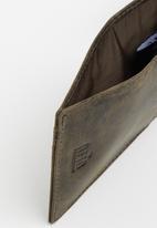 POLO - Hamada credit card wallet with top pocket - brown