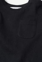 MANGO - Marcos long sleeve tee - black