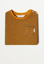 MANGO - Ivan long sleeve tee - bright yellow