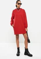 Blake - Hoodie dress - red