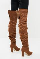 Madison® - Zara rouched over the knee boot - tan