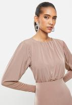 Blake - Blouson mini dress - brown