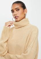 Glamorous - Roll neck jumper- oatmeal