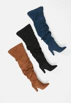 Madison® - Zara rouched over the knee boot - black