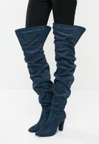 Madison® - Zara rouched over the knee boot - teal