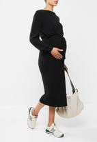 Superbalist - Nursing drawstring dress - black