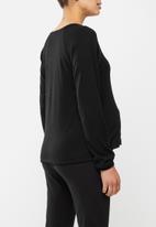 Superbalist - Soft long sleeve reglan tee - black