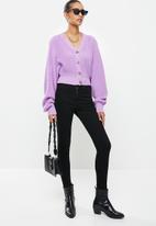 Glamorous - Cropped knit cardi - lilac
