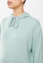 Superbalist - Rib hoodie - sage