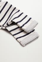 MANGO - Pepepant trousers - white & navy