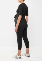 Superbalist - Belted nursing jumpsuit - black