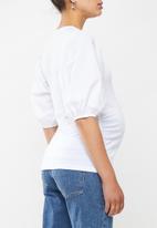 Superbalist - Puff sleeve tee - white