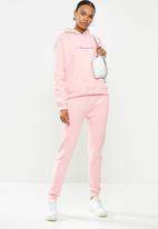 Missguided - Missguided script seam detail hoodie - pink