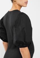 Superbalist - Puff sleeve tee - black