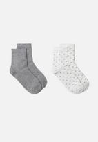 MANGO - Topito socks 2-pack - medium grey