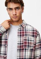 Cotton On - Washed long sleeve check shirt - multi