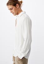 Cotton On - Cayman long sleeve shirt - white