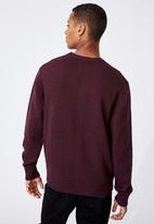 Cotton On - Crew knit - burgundy