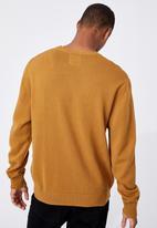 Cotton On - Crew knit - mustard
