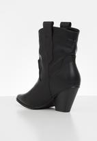 Z_Code_Z - Nathali cowboy boot - black