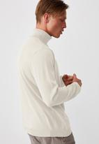 Cotton On - Roll neck sweater - winter white