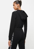 SISSY BOY - Cropped hoodie - black