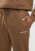 Jonathan D - Brand sweatpants regular fit - brown