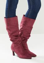 Madison® - Tiffany ruched boot - burgandy