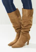 Madison® - Tiffany ruched boot - brown