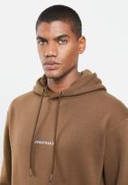 Jonathan D - Branded hoodie oversized fit - brown