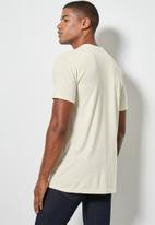 Superbalist - Nate short sleeve recycled crew neck plain tee - stone