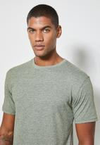 Superbalist - Nate short sleeve recycled crew neck plain tee - forest green