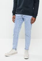 Jonathan D - 5 pocket denim jeans relaxed tapered fit - stonewash blue