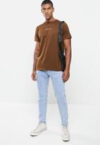 Jonathan D - Branded crew neck t-shirt regular fit - brown