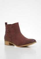 Miss Black - Clovis 2 ankle boot - burgundy