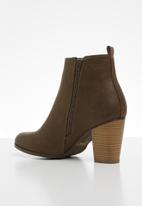 Miss Black - Alham 4 ankle boot - chocolate