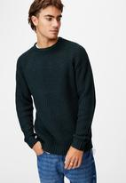 Cotton On - Fisherman knit - deep teal marle nep