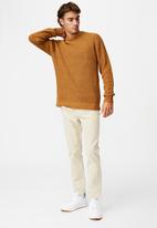 Cotton On - Fisherman knit - mustard marle nep