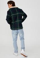 Cotton On - Ranch jacket - green navy check