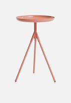 Sixth Floor - Sam tri table - rose bronze