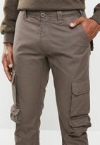 Cutty - Cotton cargo pant - dark taupe
