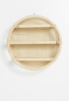 Sixth Floor - Malu round wall shelf - natural