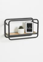 Sixth Floor - Tiki wall shelf - black & natural