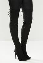 Miss Black - Belle 4 over the knee boot - black