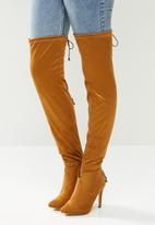 Miss Black - Belle 4 over the knee boot - tan