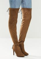 Miss Black - Belle 4 over the knee boot - choc